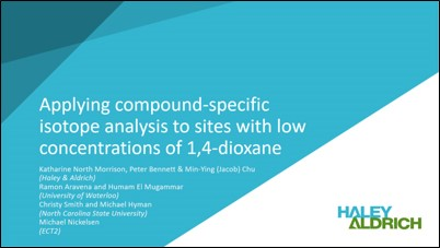 Applying compound-specific isotope analysis to sites with low concentrations of 1,4-dioxane