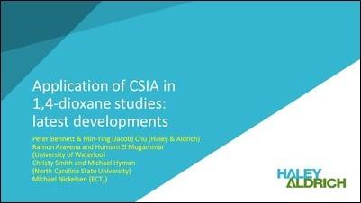 Application of CSIA in 1 4-Dioxane Studies-2
