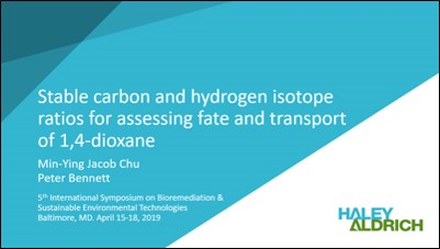 Stable carbon and hydrogen isotope ratios for assessing fate and transport of 1,4-dioxane
