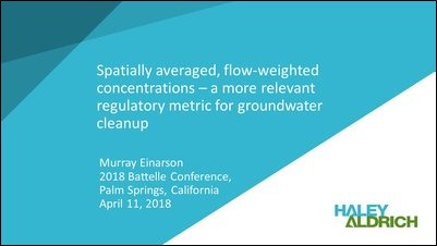 Spatially-Averaged Flow-Weighted Concentrations Regulatory Metric for Groun-1
